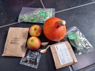Ingredients for Autumnal Squash, Apple & Walnut Salad